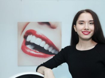 Happy woman white smile after treatment